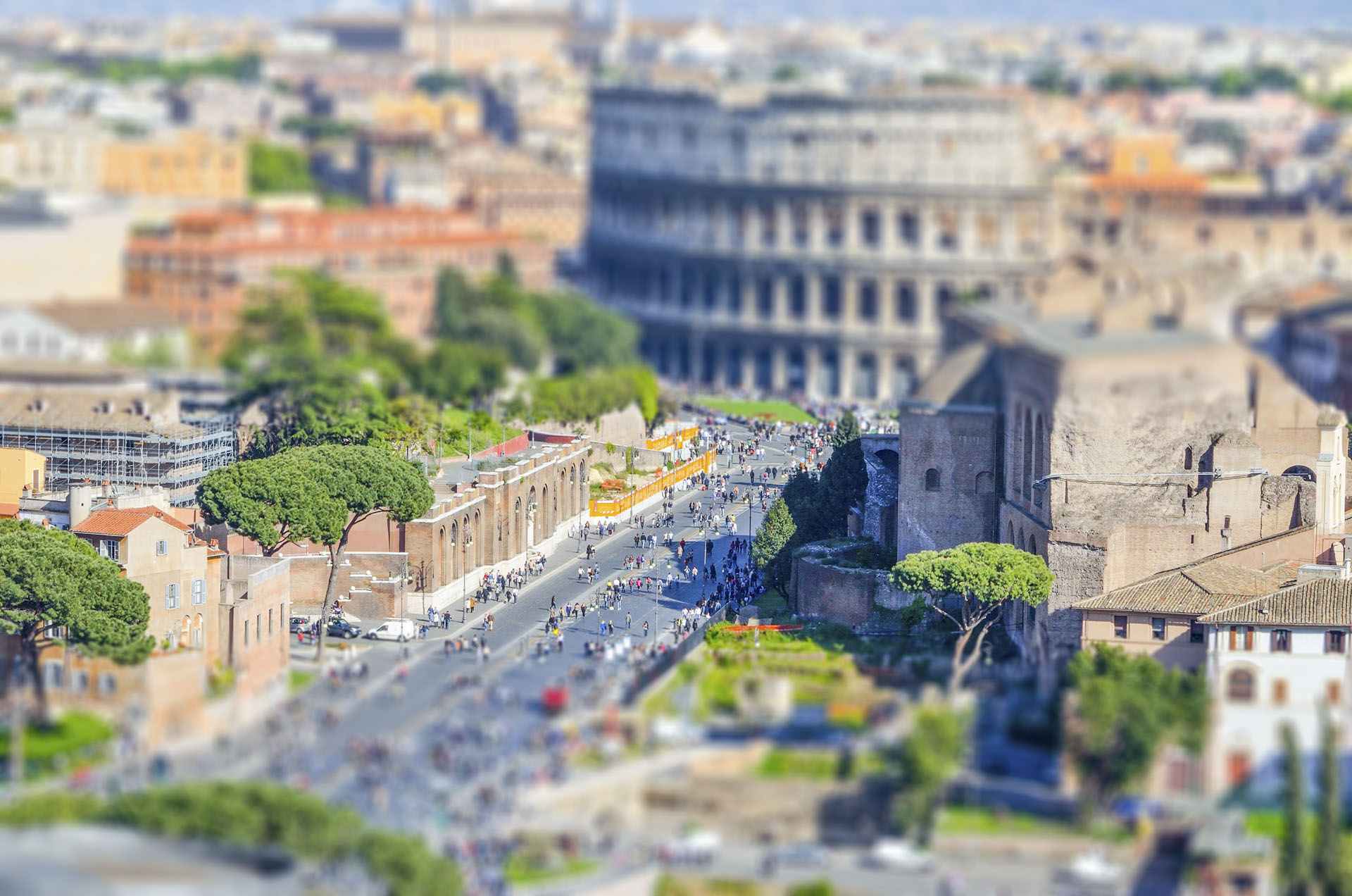 The Colosseum and the Roman Forum, Rome, Italy