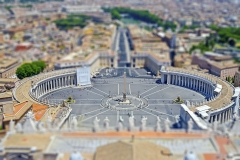 Aerial view over St. Peter's Square, Rome, Italy