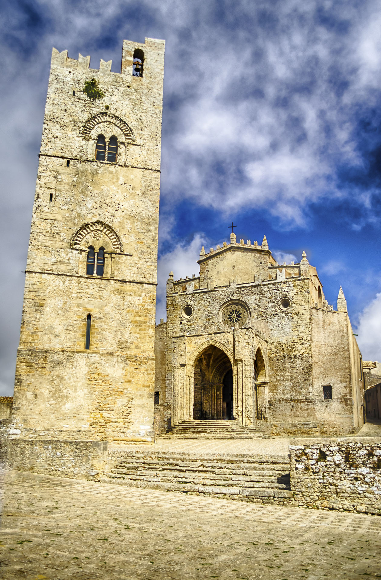 Medieval Cathedral of Erice, Sicily, Italy