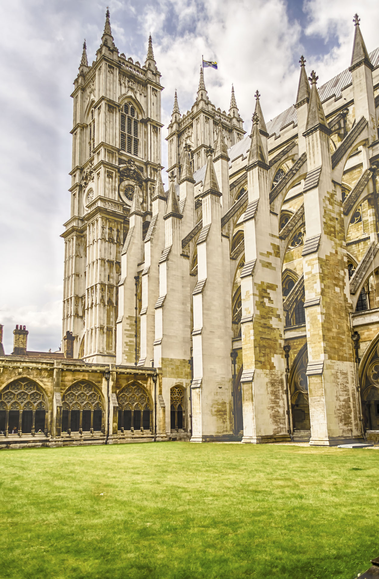 Cloister of the Westminster Abbey, London, UK