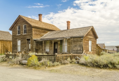 Abandoned House, Ghost Town of Bodie, California, USA