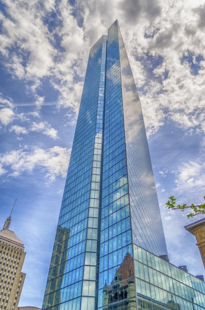 John Hancock building in Copley square, Boston, USA