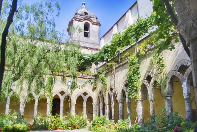 Cloister of San Francesco d'Assisi Church in Sorrento, Italy