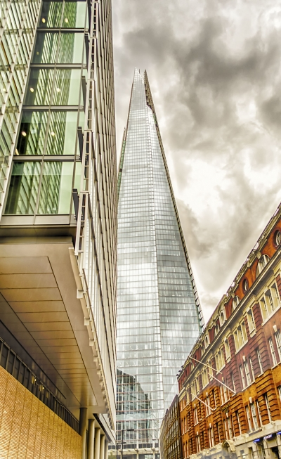 The Shard, modern skyscraper in the London skyline, UK