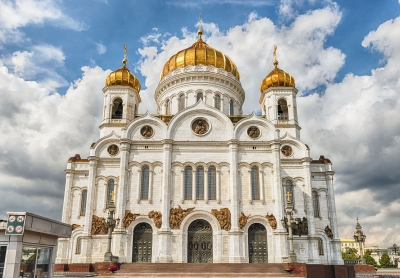 Cathedral of Christ the Saviour, iconic landmark in Moscow, Russia