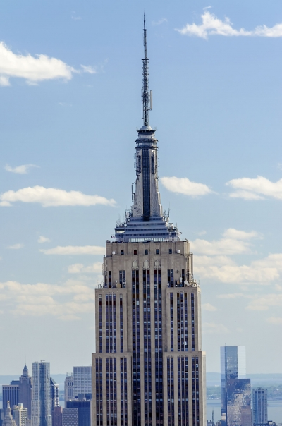 Aerial view of the Empire State Building, New York, USA