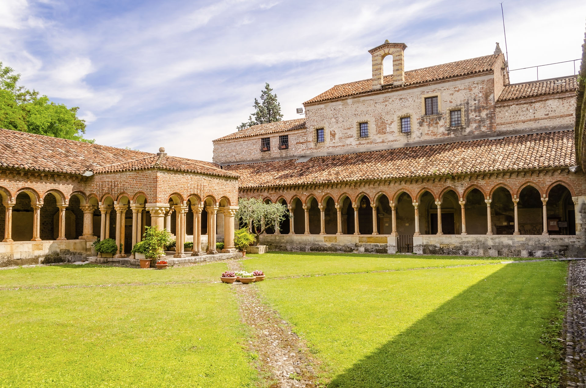Cloister of San Zeno Cathedral in Verona, Italy
