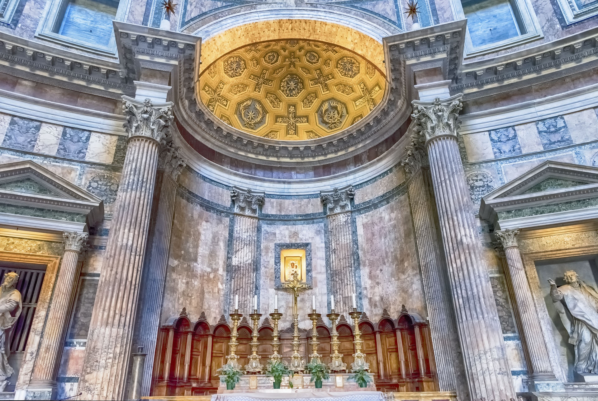 Interior of the Pantheon in Rome, Italy