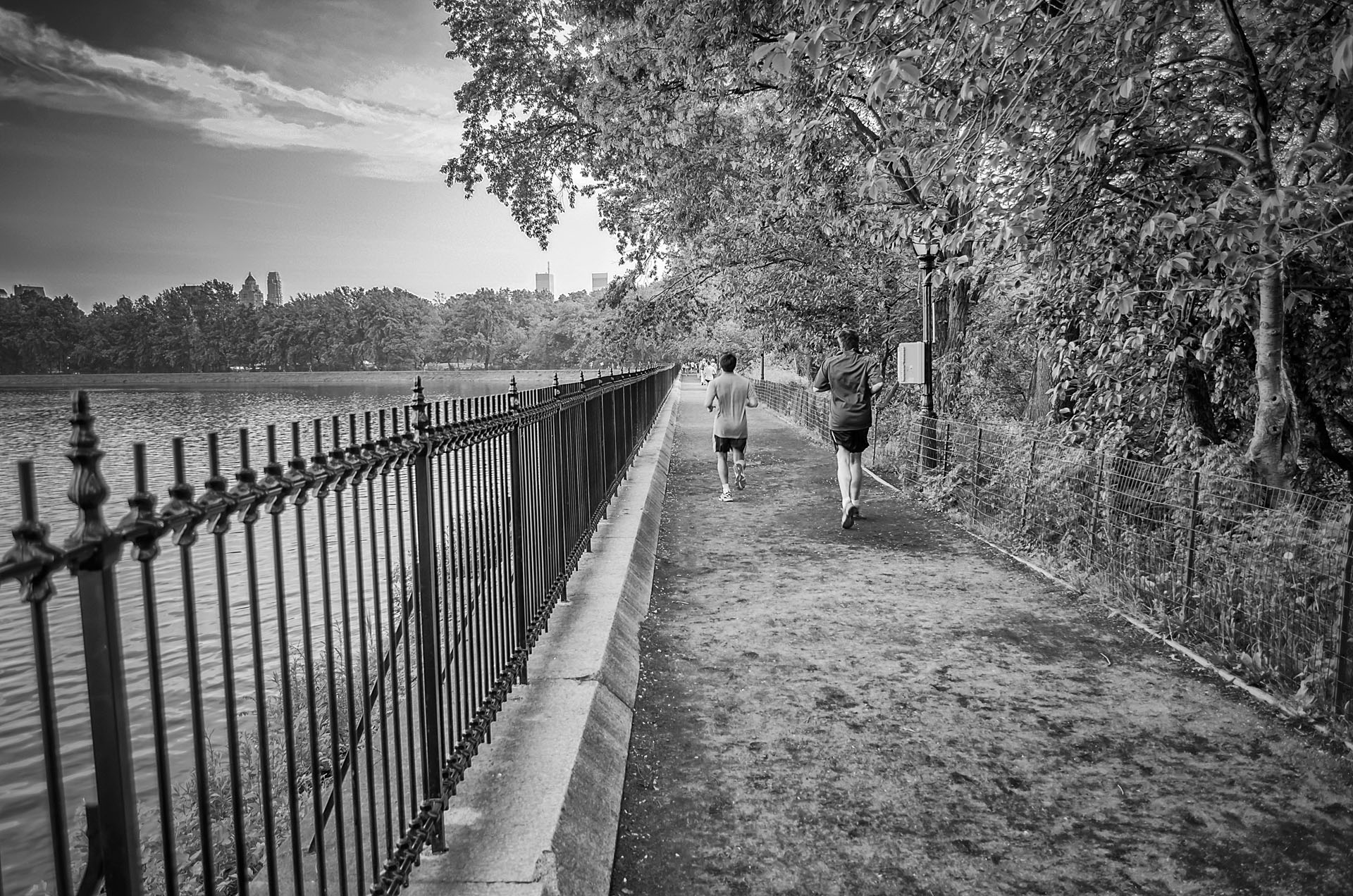 Jogging in Central Park, New York City, USA