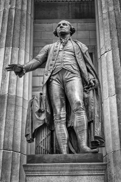 George Washington statue, Federal Hall National Memorial, New York, USA