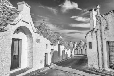 Typical trulli buildings in Alberobello, Apulia, Italy