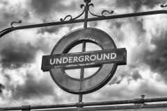 Underground sign in London, UK