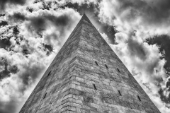 Pyramid of Cestius, iconic landmark in Rome, Italy