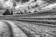 Detail of fountain at the Olympic Park, Barcelona, Catalonia, Spain