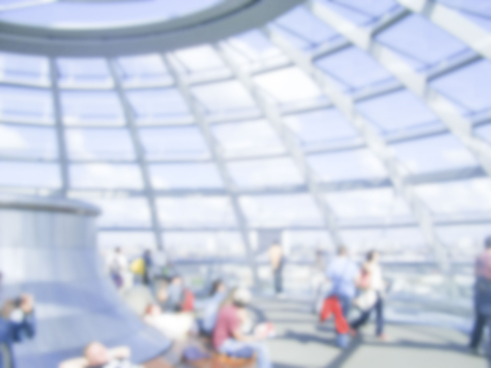 Defocused Background with the Glass Dome of the German Parliament in Berlin. Intentionally blurred post production