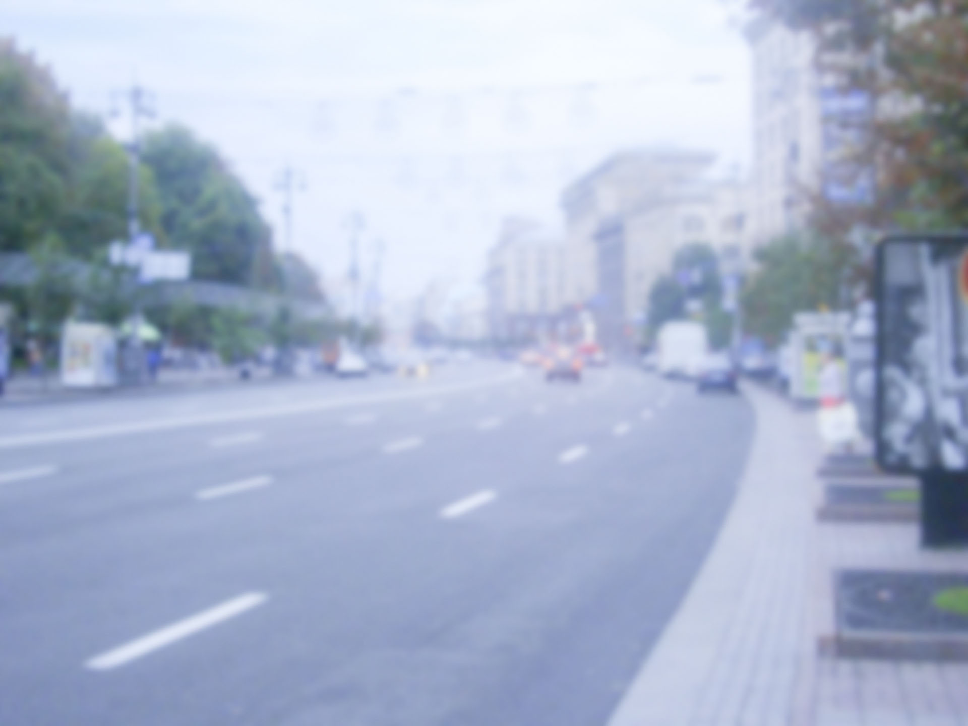Defocused background of Khreshchatyk street in Kiev. Intentionally blurred post production