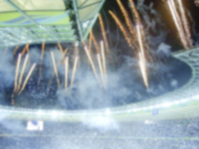 Defocused Background of Victory Celebration at the Stadium. Intentionally blurred post production