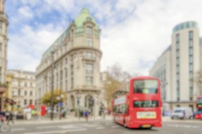 Defocused background of the Strand in London