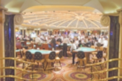 Defocused background of gambling casino tables