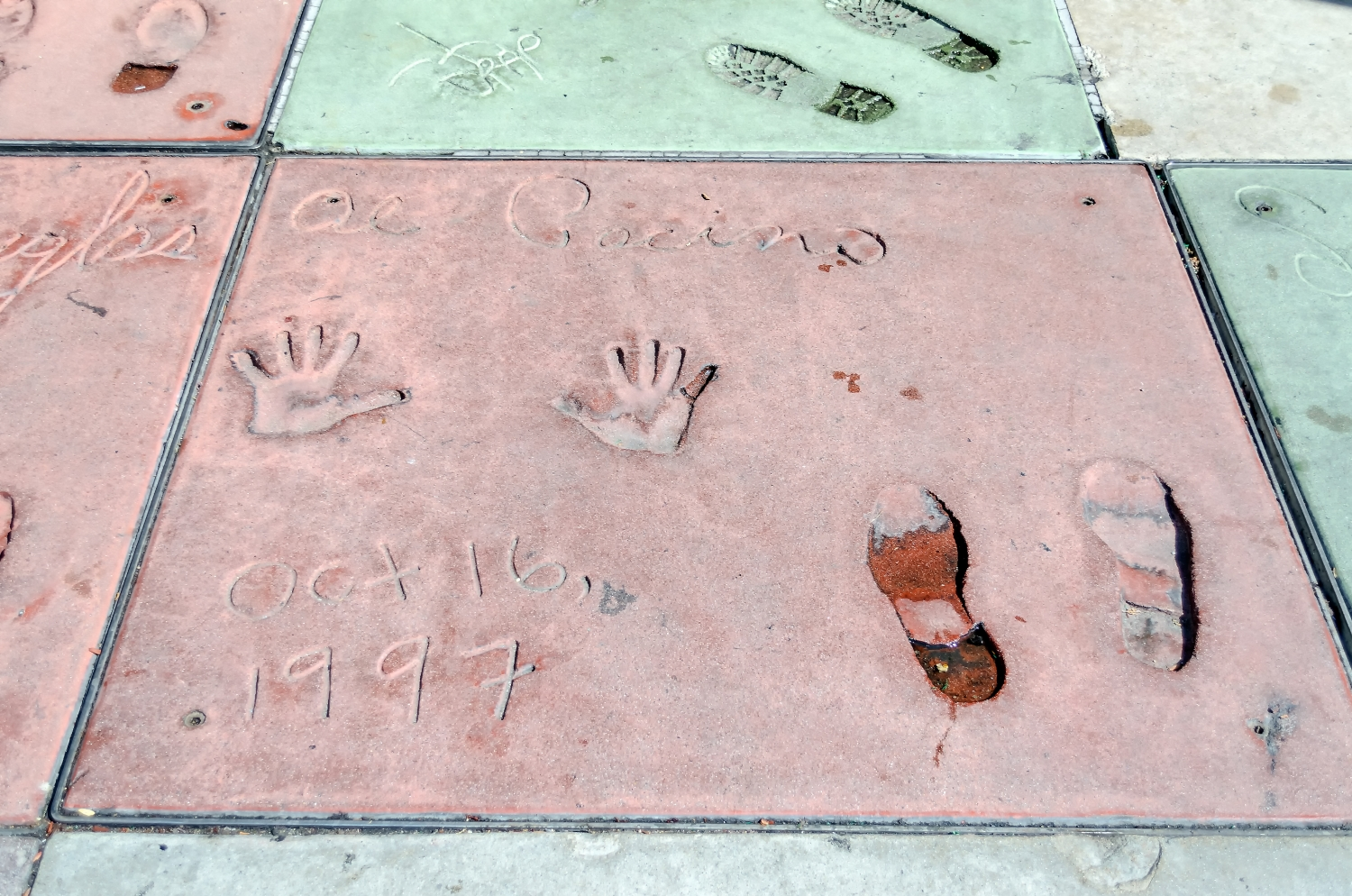 Al Pacino handprints in Hollywood Boulevard