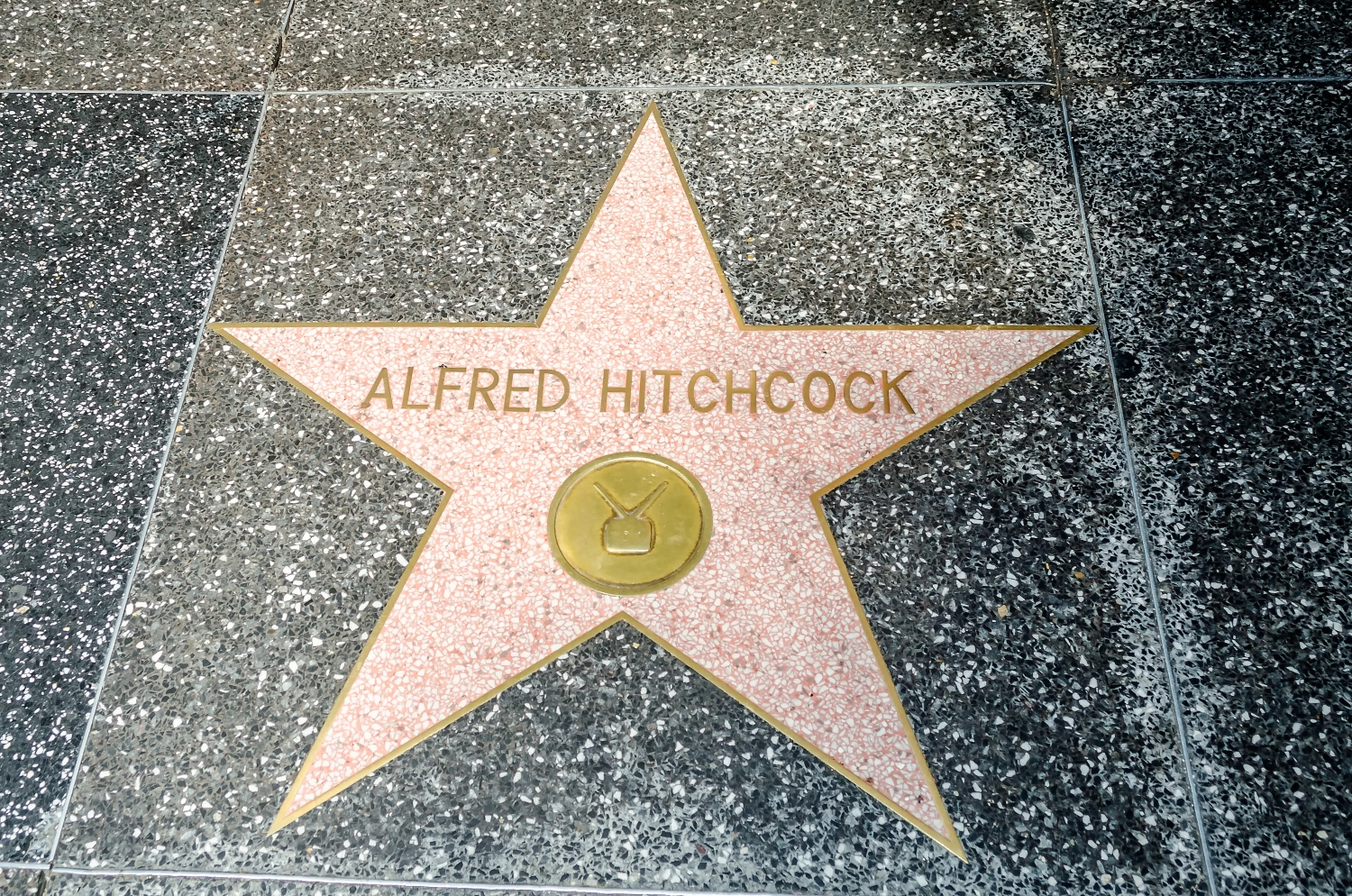 Alfred Hitchcock's star on Hollywood Walk of Fame