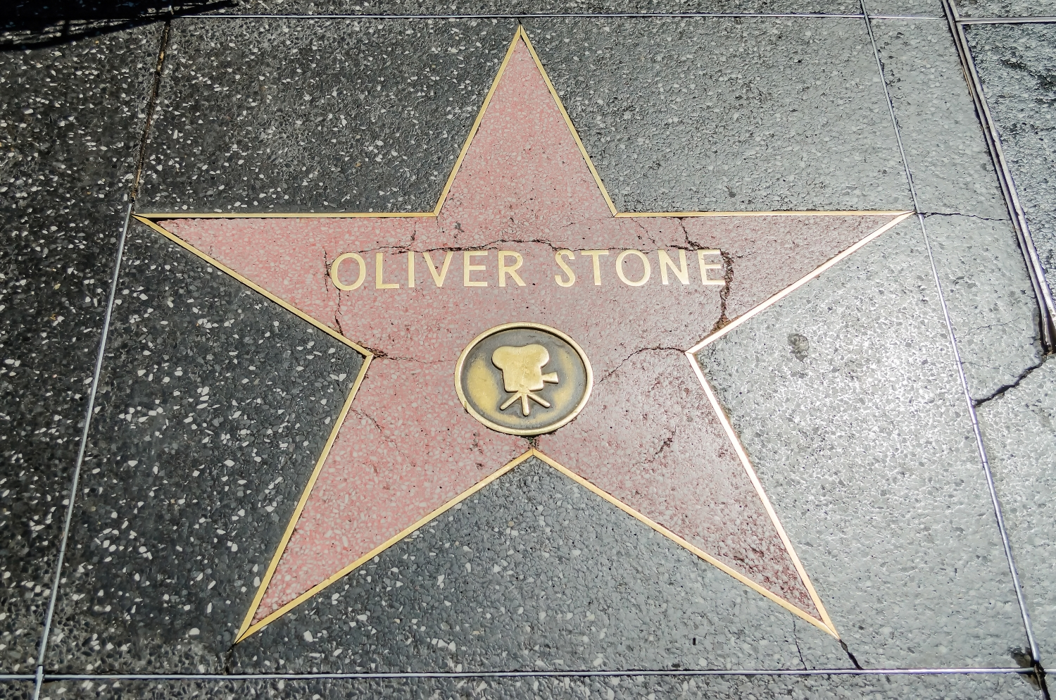 Oliver Stone's star on Hollywood Walk of Fame