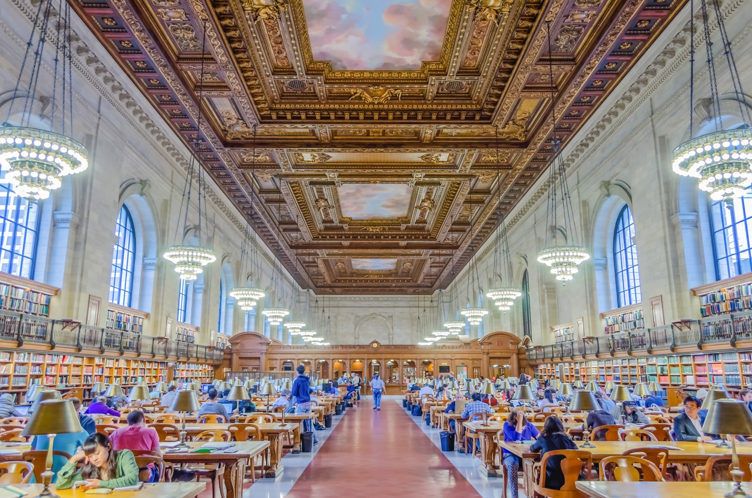 Interior of the New York Public Library, New York