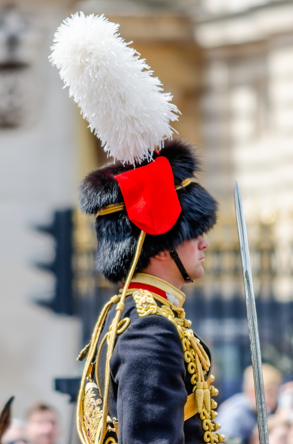 the guard ceremony at Buckingham Palace