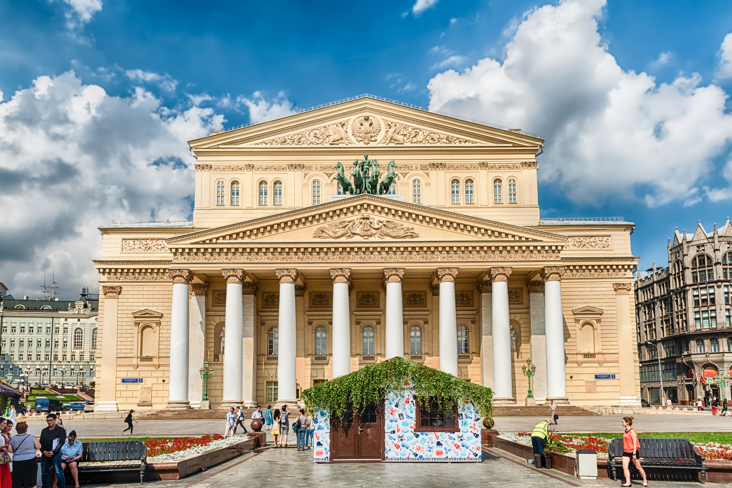 The legendary Bolshoi Theatre