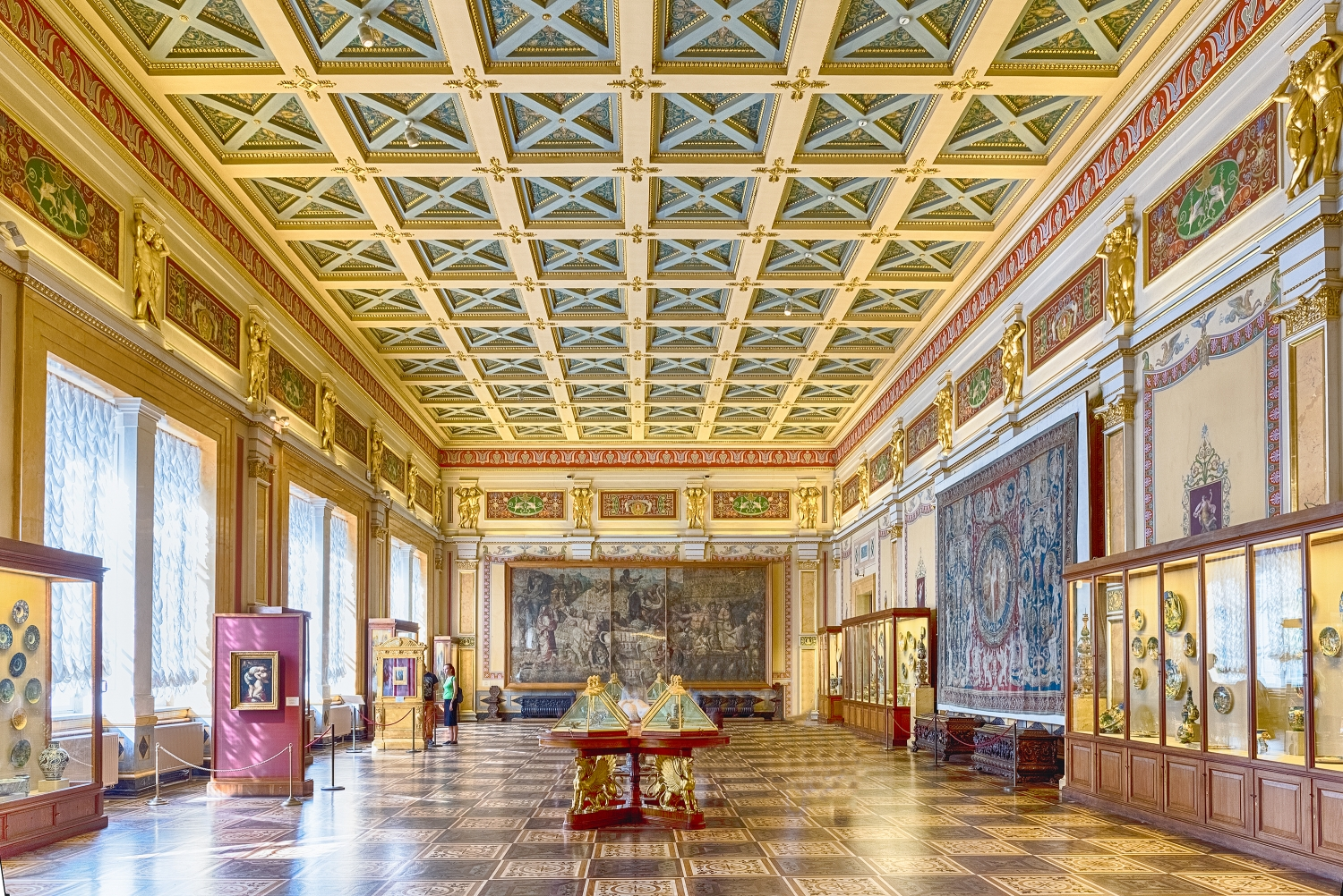 Winter Palace, one of the main highlights of the Hermitage Museum, St. Petersburg