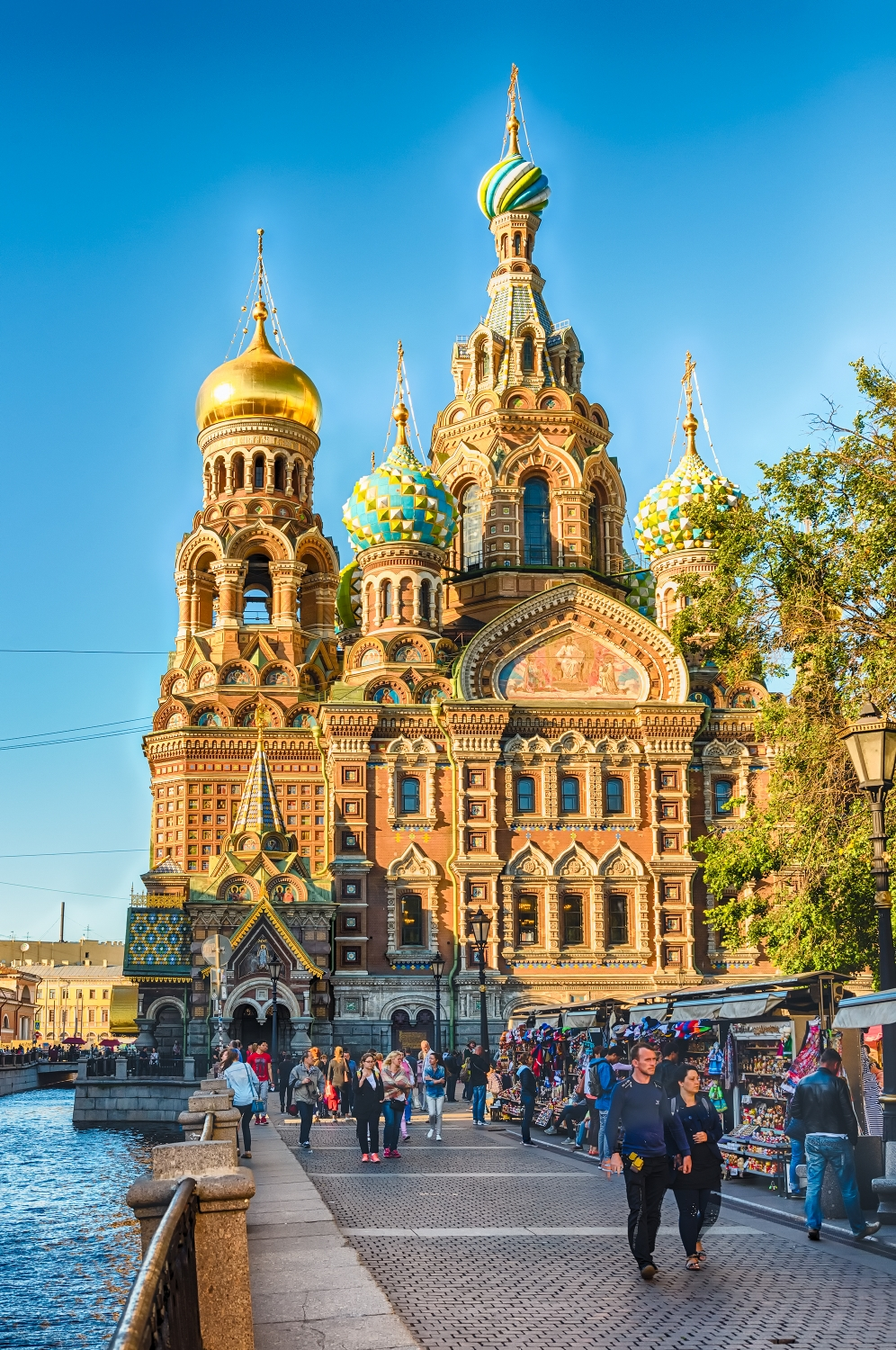 Church of the Savior on Spilled Blood over the Griboyedov Canal Embankment, St. Petersburg
