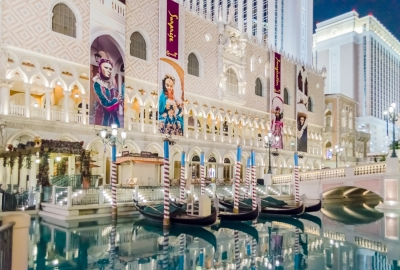 Gondola Rides at The Venetian Luxury Hotel and Casino in Las Vegas