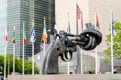 Non-Violence sculpture at the United Nations Headquarters