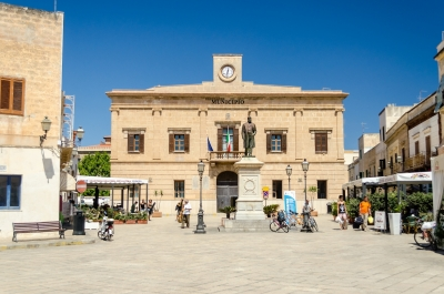 City Hall in Favignana island, Italy