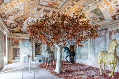 Interiors of Villa D'Este in Tivoli
