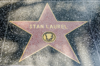 Stan Laurel's star on Hollywood Walk of Fame