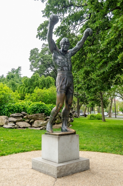 The Rocky Statue in Philadelphia, USA