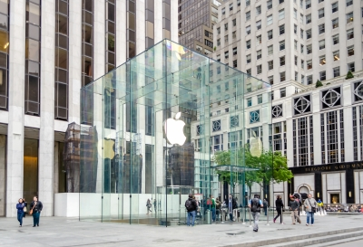 Apple Store cube on 5th Avenue, New York, USA