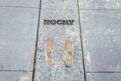 The Rocky Steps in Philadelphia, USA
