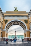 Arch of the General Staff Building, St. Petersburg, Russia
