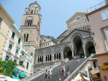 View of the Cathedral of St Andrea, Amalfi, Italy