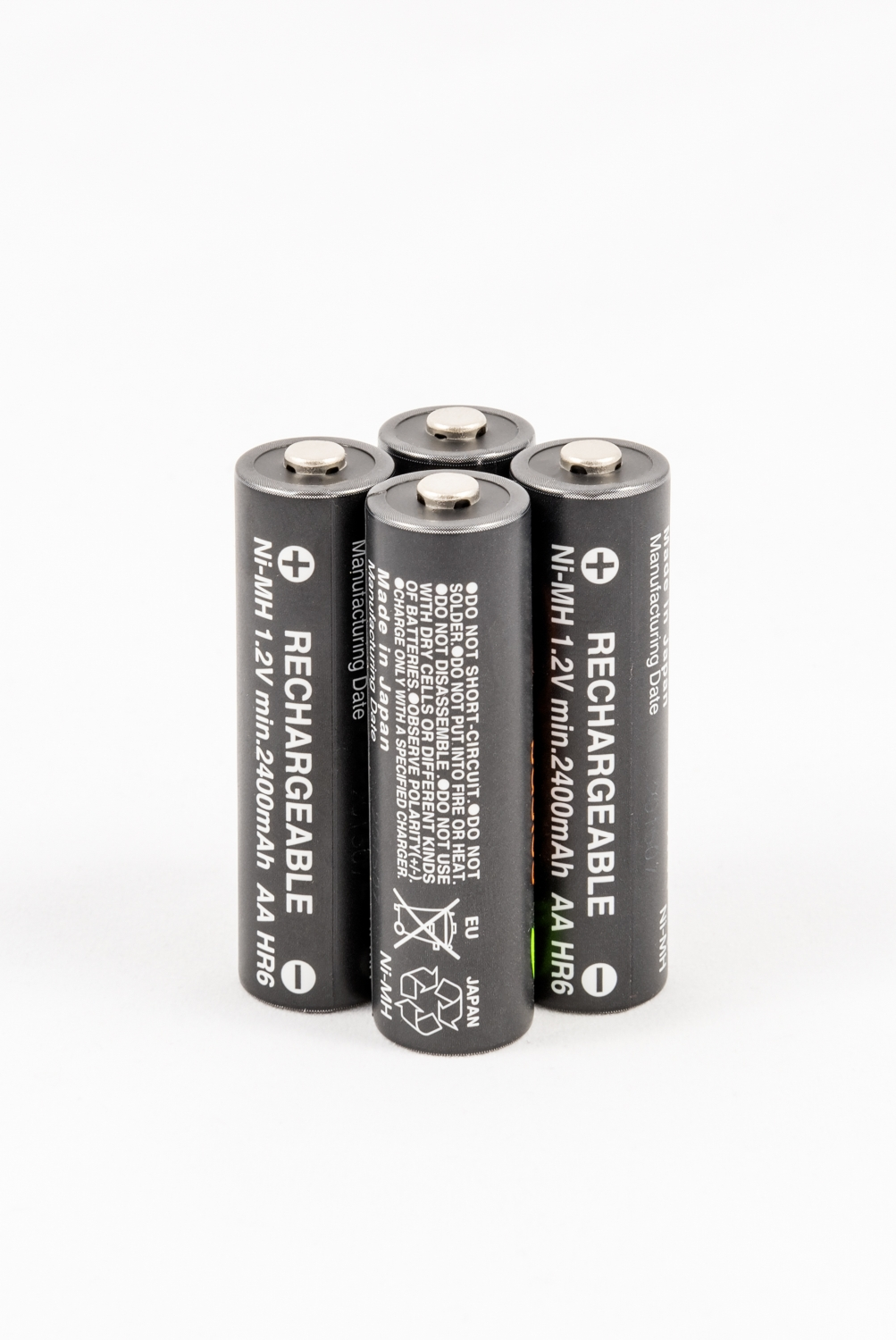 black AA rechargeable batteries
