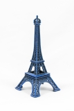blue miniature model of the Eiffel Tower