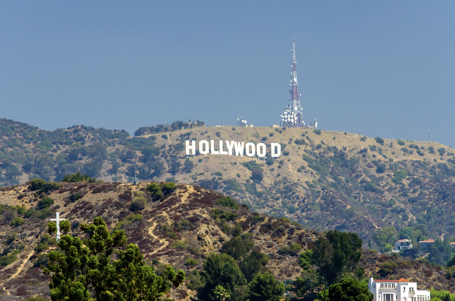 Hollywood Sign on Santa Monica mountains, USA