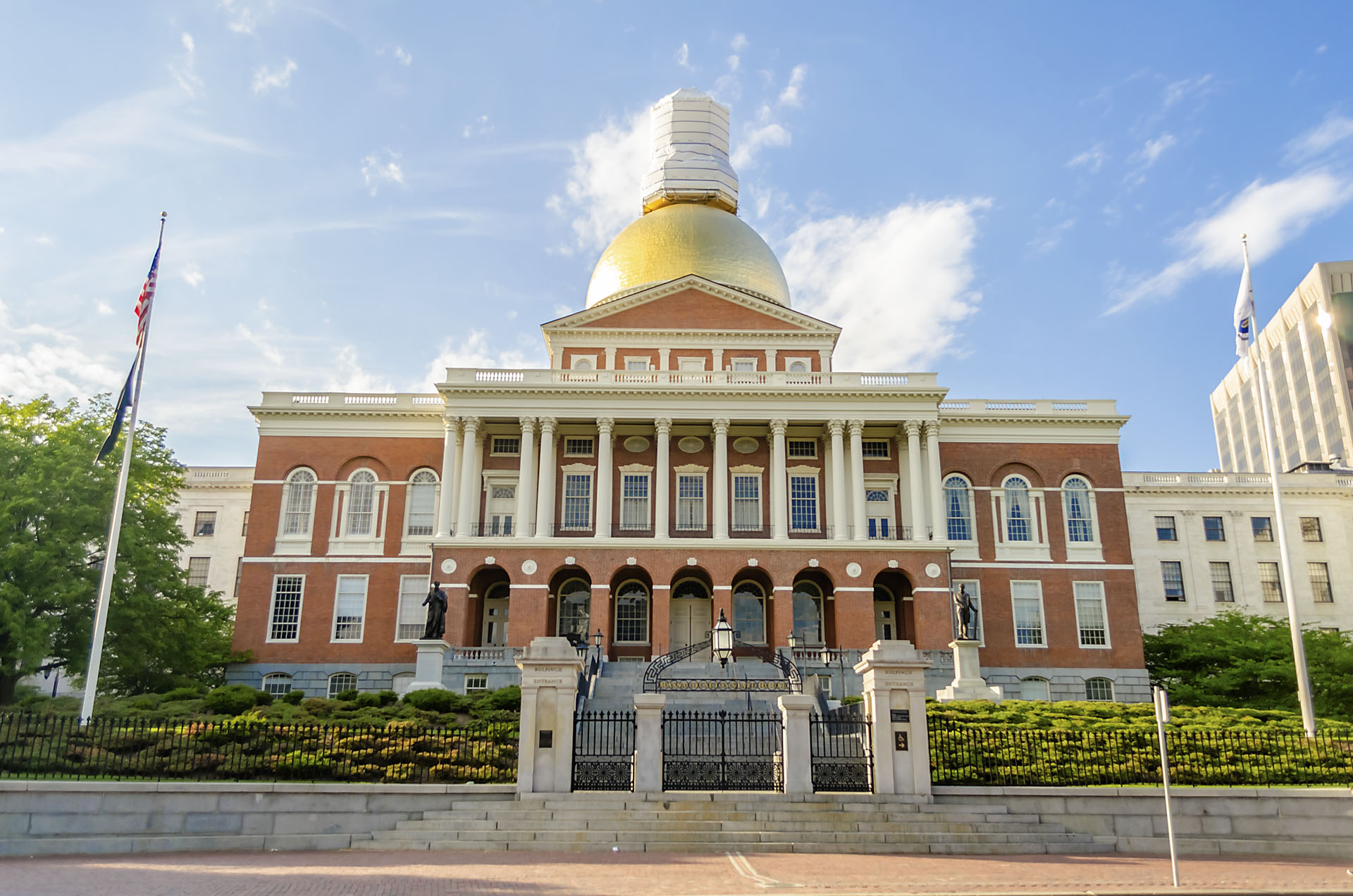 Massachusetts State House in Boston, USA