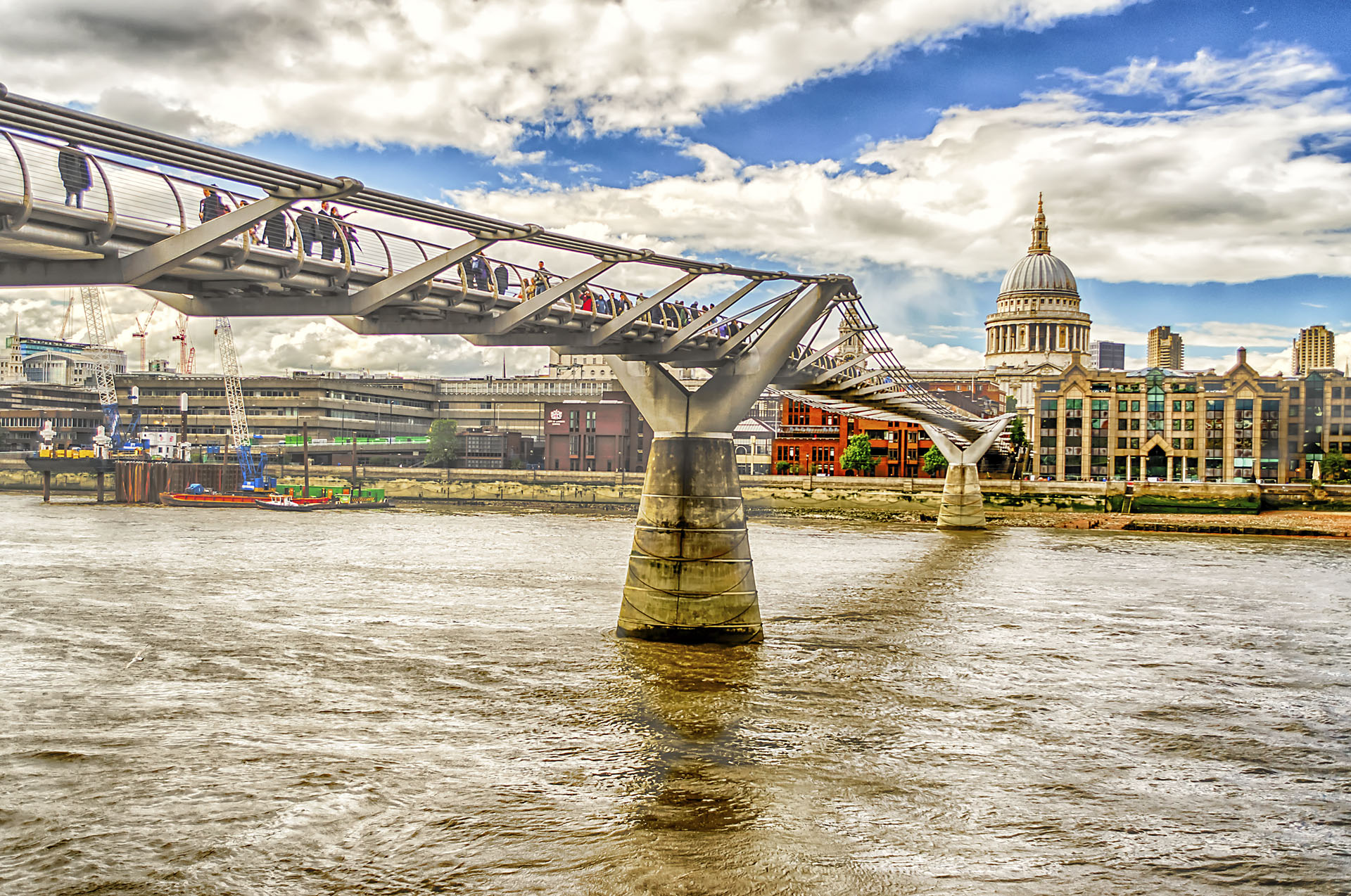 The Millennium Bridge, London, UK