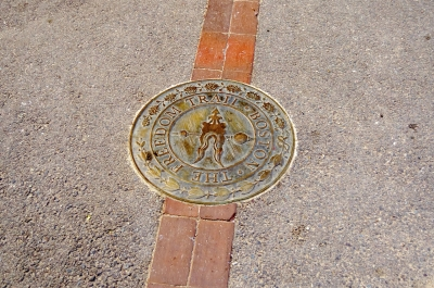 Freedom Trail sign in Boston, USA