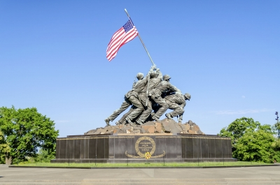 Marine Corps War Memorial (Iwo Jima Memorial), Washington DC, USA