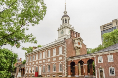 Independence Hall building in Philadelphia, Pennsylvania, USA