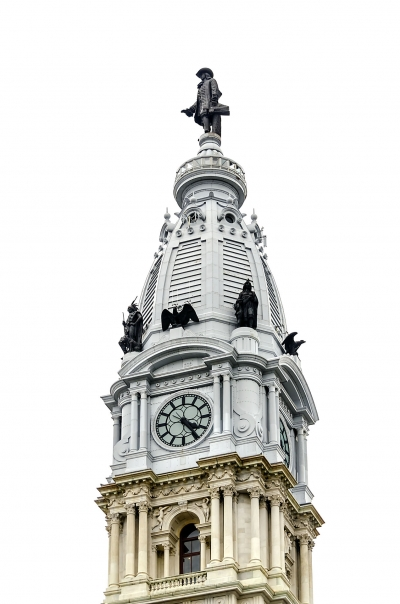 Philadelphia City Hall tower, Pennsylvania, USA